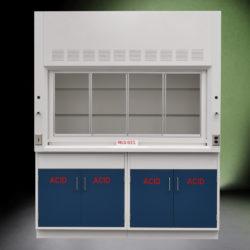 6' Fisher American Fume Hood w/ Acid Storage Cabinets (NLS-611)