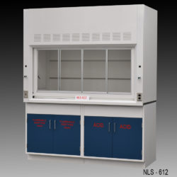 6' Fisher American Laboratory Fume Hood w/ Flammable & Acid Storage Cabinets (NLS-612)