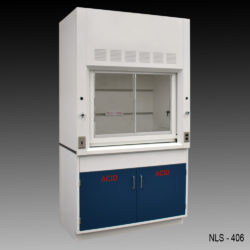 4' Fume Hood w/ Acid Storage Cabinet (NLS-406)