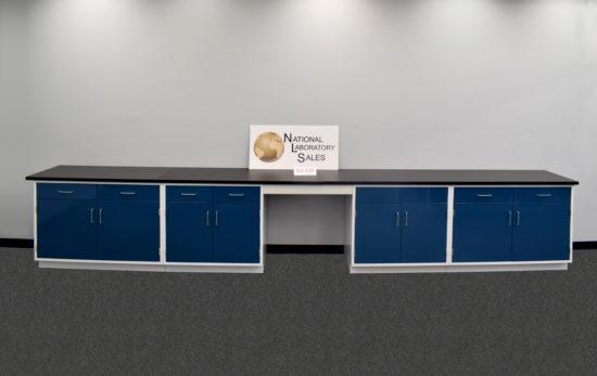 17' Fisher American Laboratory Cabinets w/ Desk
