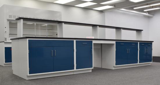 16' x 4' Fisher American Laboratory Island w/ Center Shelf (SLS 017)