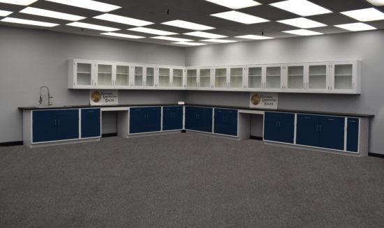 38' Base x 33′ Wall Fisher American Laboratory Cabinet w/ Sink (SLS-023)