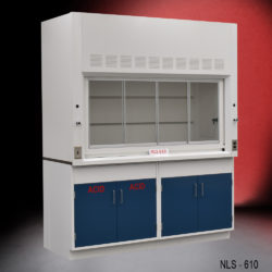 6' Fisher American Laboratory Chemical Fume Hood w/ General & Acid Storage Cabinets (NLS-610)