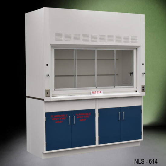 6' Fisher American Laboratory Chemical Fume Hood w/ General & Flammable Storage Cabinets (NLS-614)