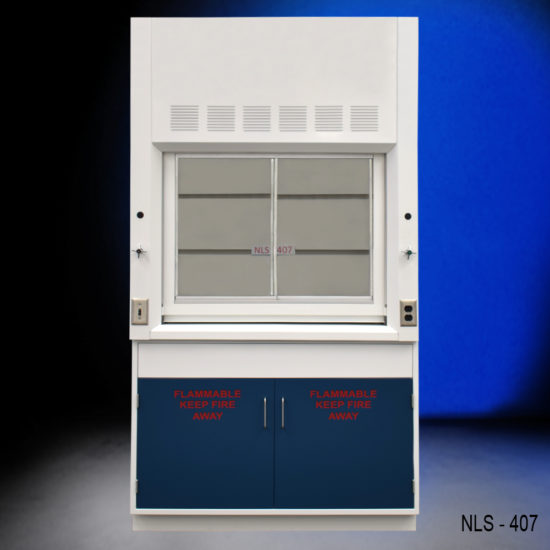 4' Chemical Fume Hood w/Flammable Base Cabinet (NLS-407)