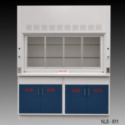 6' Laboratory Fume Hood w/ ACID Cabinets (NLS-611)