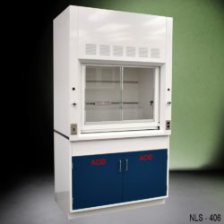 4' Fisher American Chemical Fume Hood w/ Acid Storage Cabinet (NLS-406)