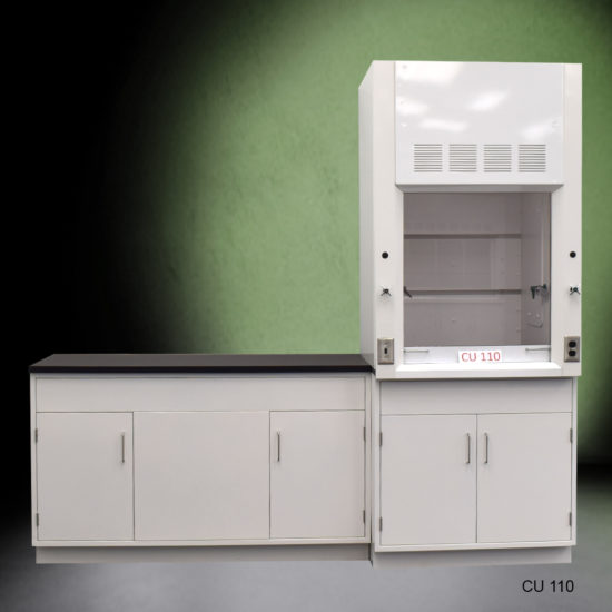 3' Fisher American Fume Hood with General Storage and 5' Laboratory Cabinet Group (CU-110)