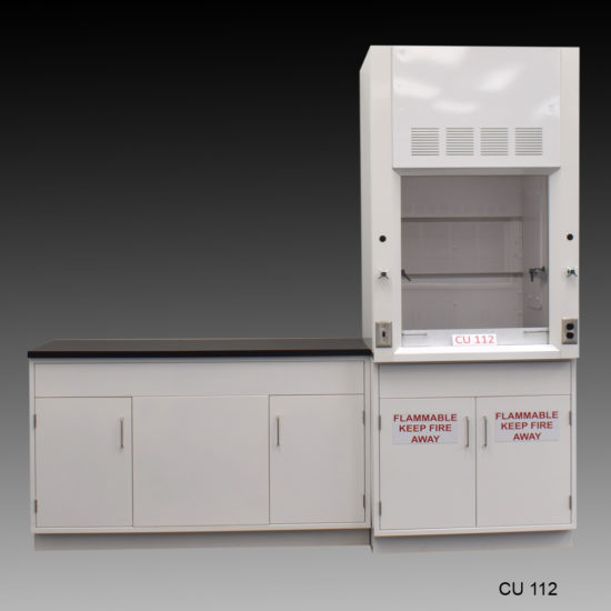3' Fisher American Fume Hood with Flammable Storage and 5' Laboratory Cabinet Group (CU-112)