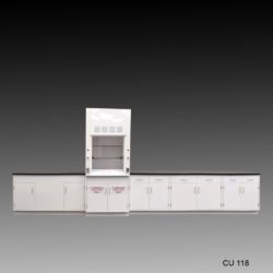 3' Fisher American Fume Hood w/ Flammable Storage & 15' Laboratory Cabinet Group (CU-118)