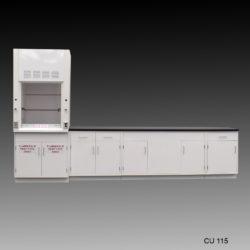 3' Fisher American Fume Hood w/ Flammable Storage & 10' Laboratory Cabinet Group (CU-115)