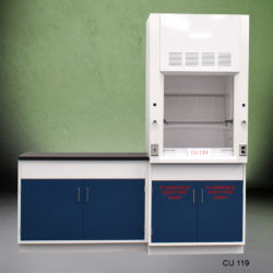 3' Fisher American Fume Hood w/ Flammable Storage & 4' Laboratory Cabinet Group (CU-119)