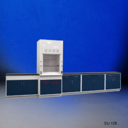 3' Fisher American Fume Hood with Flammable Storage & 14' Laboratory Cabinet Group (CU-125)