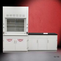 4' Fisher American Fume Hood w/ Flammable Storage & 5' Laboratory Cabinet Group (CU-102)