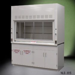 6' Fisher American Laboratory Chemical Fume Hood w/ Flammable & General Cabinet (NLS-615)