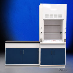 3' Fisher American Fume Hood w/ General Storage & 4' Laboratory Cabinet Group (CU-121)
