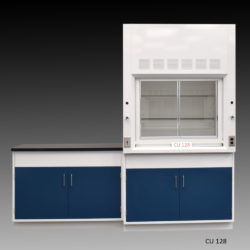4' Fisher American Fume Hood w/ General Storage & 4' Laboratory Cabinet Group (CU-128)