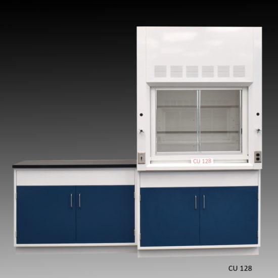 4' Fisher American Fume Hood w/ General Storage & 4' Laboratory Cabinet Group (CU-128)