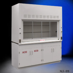 6' Fisher American Chemical Fume Hood w/ Acid and General Cabinet (NLS-616)