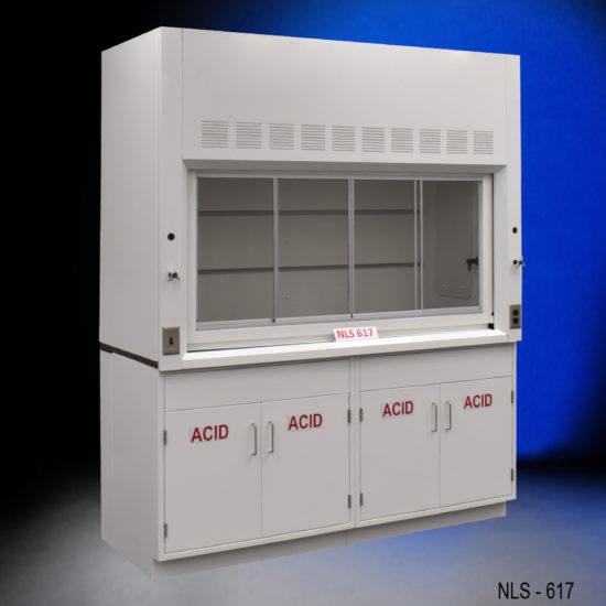6' Fisher American Laboratory Fume Hood w/ Acid Storage Cabinets (NLS-617)