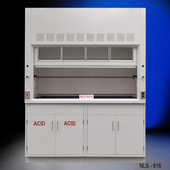 6' Fisher American Fume Hood w/ Acid & General Storage Cabinets (NLS-616)
