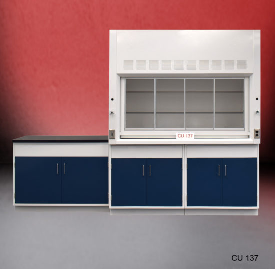 6' Fisher American Fume Hood w/ General Storage & 4' Laboratory Cabinet Group (CU-137)