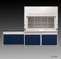 6' Fisher American Fume Hood w/ Two Flammable Storage Cabinets & 4' Laboratory Cabinet Group (CU-141)