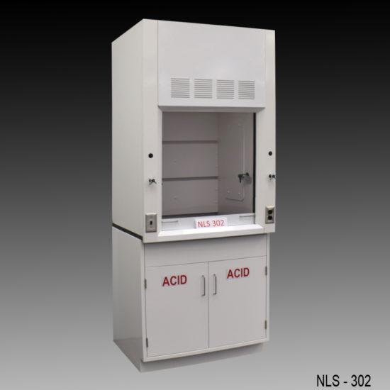 3′ Fisher American Fume Hood w/ Acid Cabinet (NLS-302)