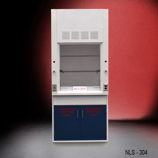3' Chemical Fume Hood w/ Flammable Storage Cabinet (NLS-304)