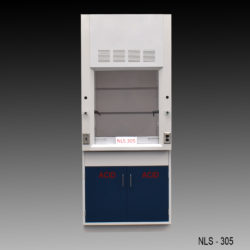 3' Chemical Fume Hood w/ ACID Base Cabinet (NLS-305)