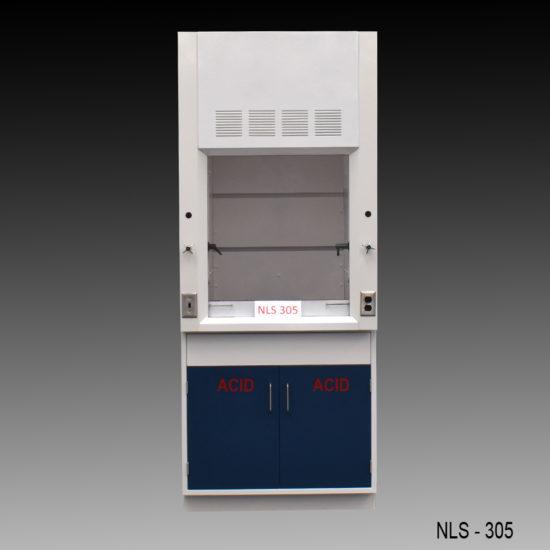3' Chemical Fume Hood w/ ACID Base Cabinet (NLS-305)