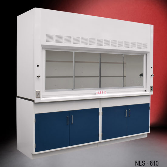 8' Fume Hood with General Storage Cabinets (NLS-810)