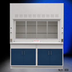 6' Fisher American Fume Hood w/ Epoxy Resin Countertops (NLS-609)