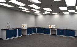 "18' x 19' Fisher American Laboratory ""L"" Cabinet Group w/ Desks & Sink (SLS 022)"
