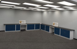 18' x 19' Fisher American Cabinets w/ Desks