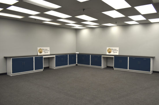 18' x 19' Fisher American Base Laboratory Base Cabinets w/ Desk Areas