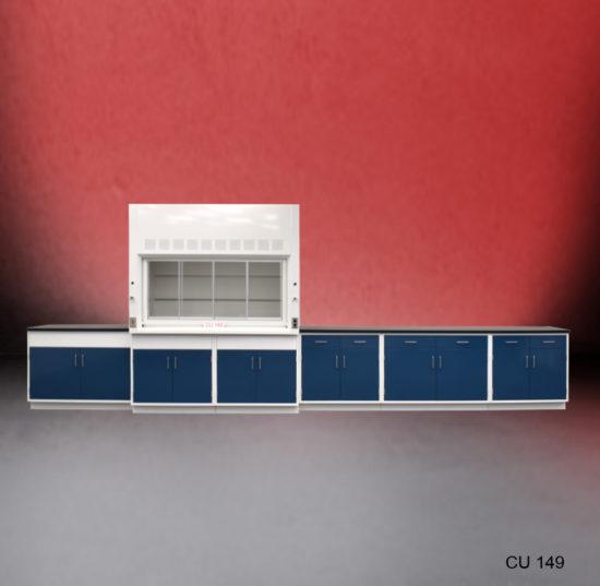 6' Fisher American Fume Hood w/ 14' Laboratory Cabinet (CU-149)
