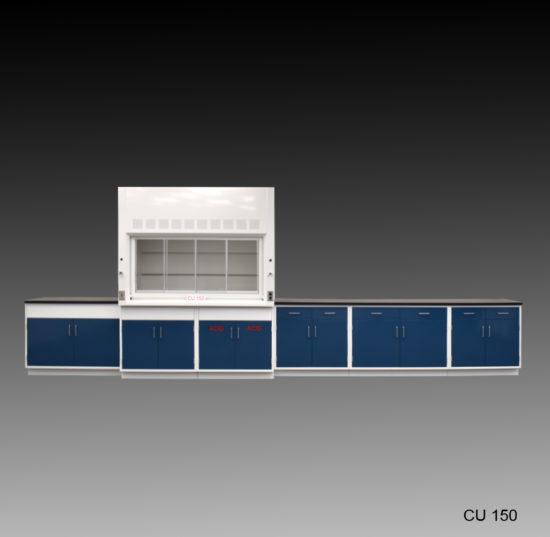 6' Fisher American Fume Hood w/ 14' Laboratory Cabinet (CU-150)