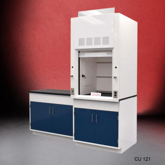 3' Fisher American Fume Hood w/ Flammable Storage & 5' Laboratory Base Cabinet